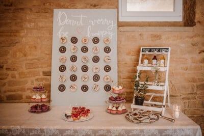 Kuchen auf einer Hochzeit